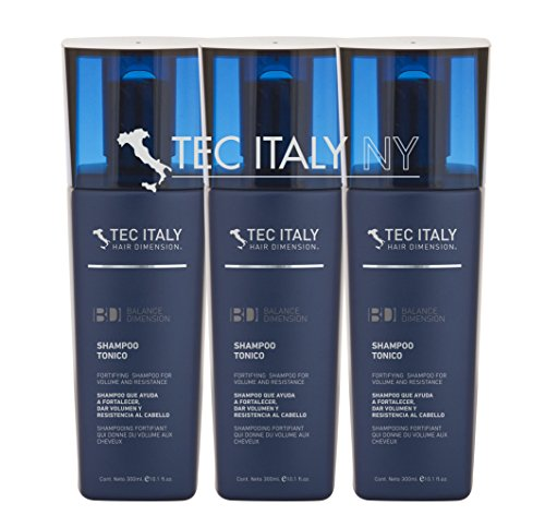 Tec Italy Hair Fortifying Shampoo Tonico for Volume & Resistance (Pack of 3)
