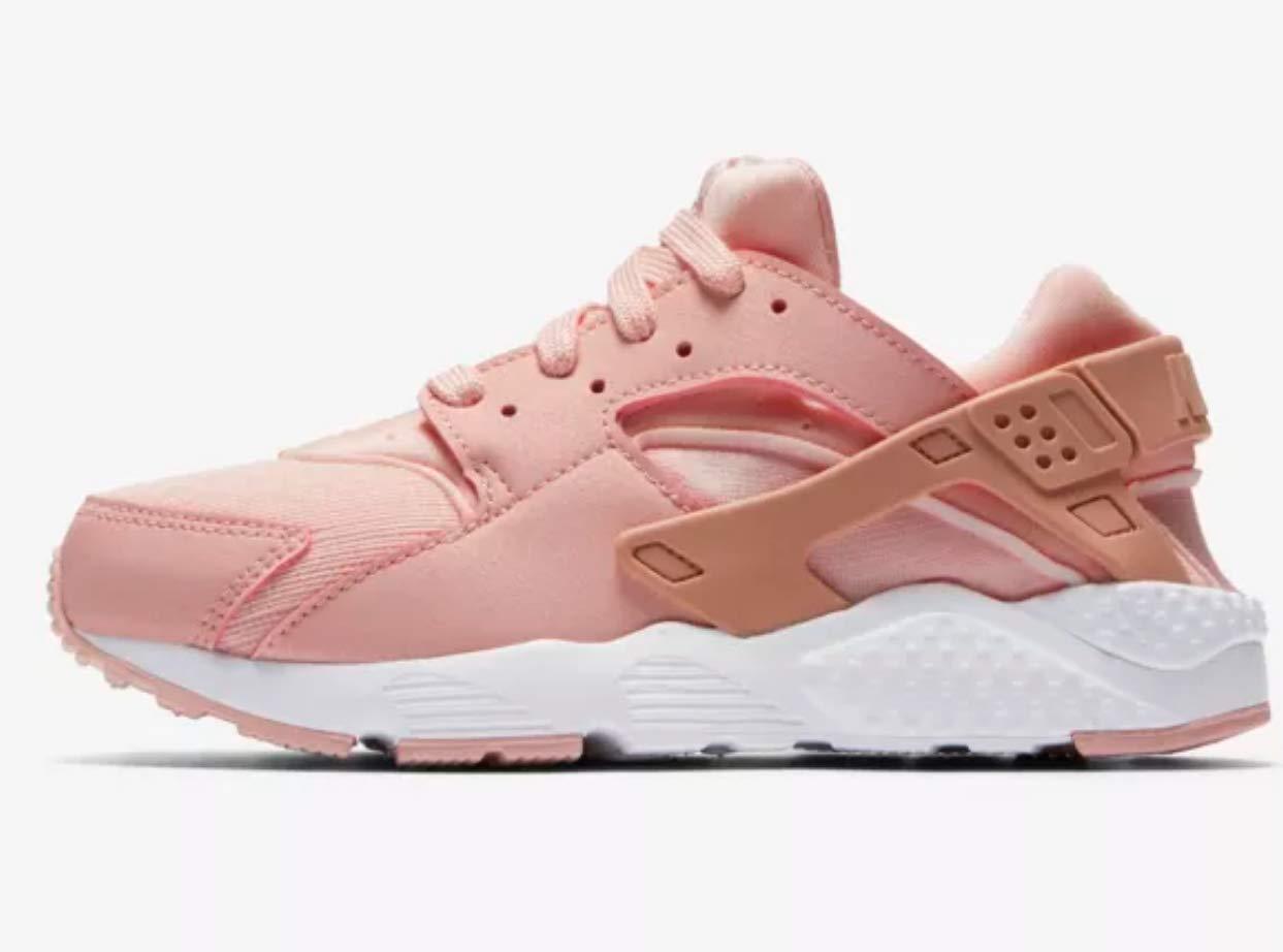 3 M US Little Kid NIKE 859591-604 Girls Huarache Run Storm Pink//Rust Pink-White Sneakers