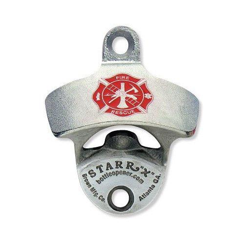 Fireman's Cross U.S.A. MADE Zinc Aluminum Starr X Wall Mount Bottle Opener - Fireman Wine