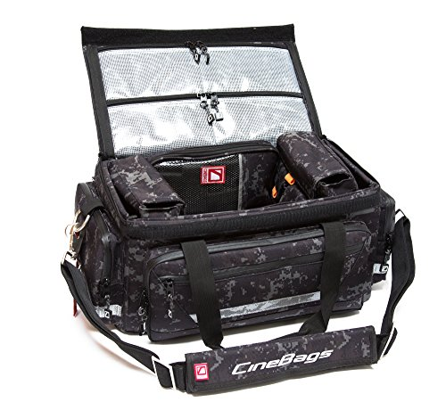 CineBags Production Bag MINI Limited Edition camera assistant bag, Black Camouflage, full-size (CB11TC) by CineBags