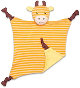 Apple Park Organic Farm Buddies - George Giraffe Blankie, Blanket Baby Toy for Newborns, Infants, Toddlers - Hypoallergenic, 100% Organic Cotton