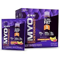 EAS Myoplex Ketogenic Powder Packets, Strawberry Banana 2 LB, 14 Count