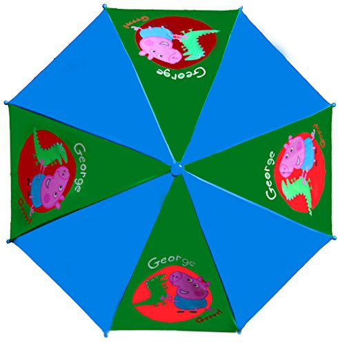 Adorable Peppa Pig and George Pig Vibrant Children's Umbrellas! (BLUE) by Peppa, Pig (Image #1)