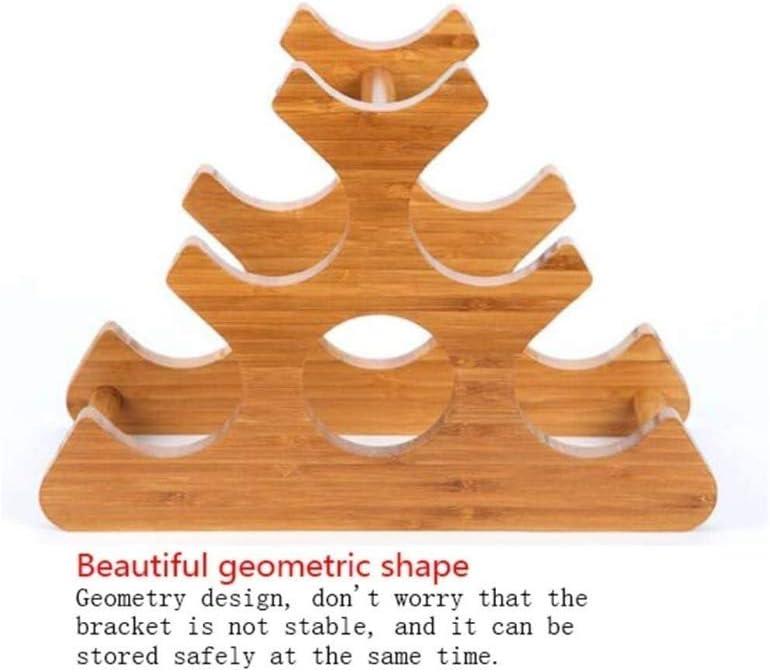 weiten sie und verdickte Geometrische Zierde for Haus oder in der K/üche 35 /× 18 /× 25,5 cm Souler Weinzubeh/ör Weinregal aus Holz Weinregal aus Holz Weinflaschenregal