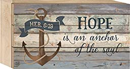 Hope is an Anchor of the Soul Hebrews 6:19 5 x 8 Wood Block-Style Wall Art Sign Plaque