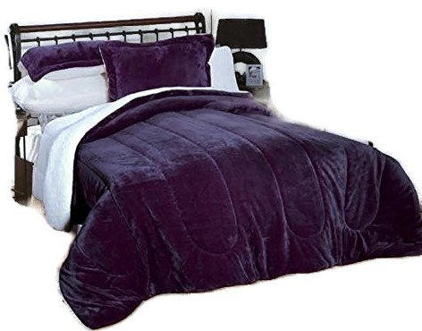 Down Alternative Comforter, micromink flannel sherpa Comforter, Hypoallergenic, duvet insert, down alt borrego , bedding comforter, Allergen Barrier.
