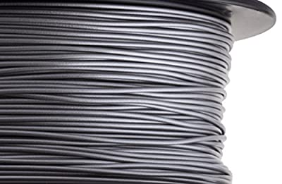 HATCHBOX 1.75mm Silver PLA 3D Printer Filament - 1kg Spool (2.2 lbs) - Dimensional Accuracy +/- 0.03mm - Pack of 5