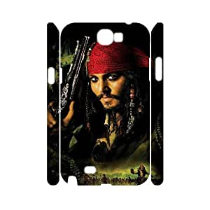 XOXOX Phone case Of Pirates of the Caribbean Cover Case For Samsung Galaxy Note 2 N7100 [Pattern-1]
