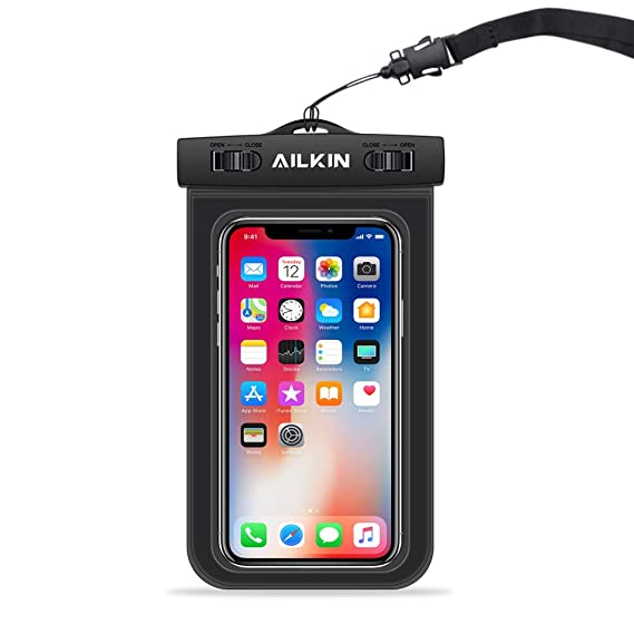 free shipping 08b76 ef48e Amazon.com: Waterproof Phone Pouch, AILKIN Swimming Water Proof Bag ...