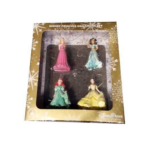 Disney Parks Princess Ornament Set: Aurora, Jasmine, Ariel, Belle