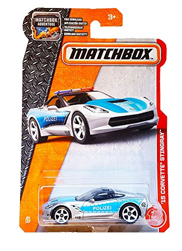 (Matchbox 2017 '15 Corvette Stingray (Police Car) 64/125, Silver )