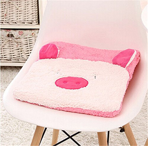 New cute plush cartoon student home seat cushion office chair seat Pad/chair Pad/ Chair Cushion/ Office Cushion/sofa Cushion/Sponge car Cushion (pink pig) by Update Everyday