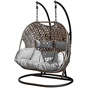 Double Seater Hanging Pod Chair Outdoor Rattan