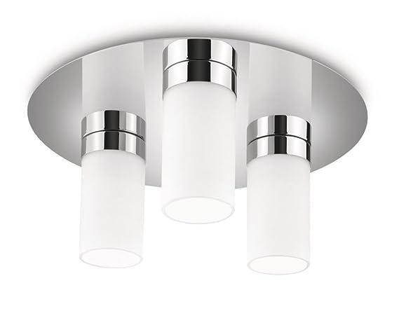 Plafoniere A Led Per Bagno Philips : Philips aloe lampada bagno soffitto cilindri vetro satinato