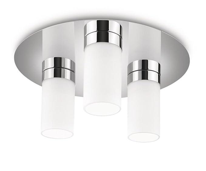 Philips aloe lampada bagno soffitto cilindri vetro satinato