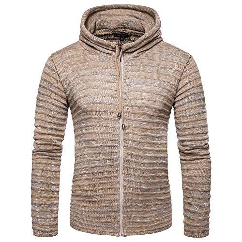Abrigo de Punto de los Hombres, ♚ Absolute suéter Corto Otoño Invierno sólido de Punto a Rayas Chaqueta Chaqueta de Manga Larga Outwear Blusa: Amazon.es: ...