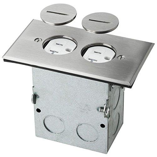 Sunlite E585 Stainless Steel Recessed Floor Plate (Steel Plates Floor)