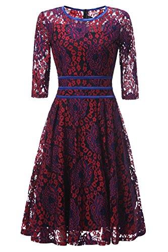 Vickyben - Vestido - para mujer Rojo