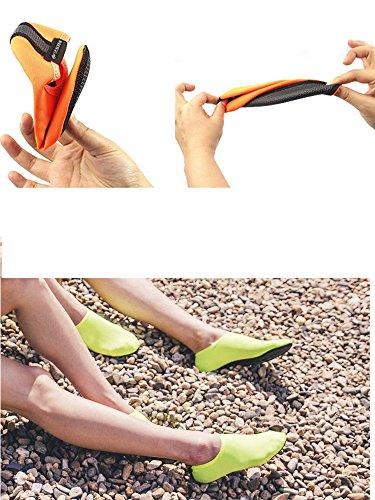 Womens Mens Barefoot Water Skin Shoes Aqua Socks For Beach Swim Surf Yoga Exercise Sports #0014 Fluorescent Green i4WhO9p3m