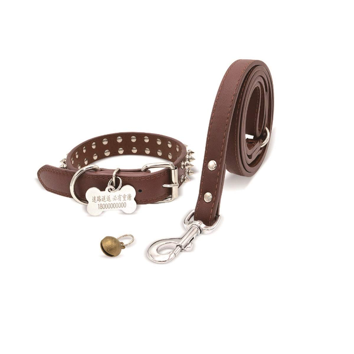 Dark brown S Dark brown S Tongboshi Dog Collar, Large Dog golden Collar, Collar Spike, Black, Red, Dark Brown, The Collar is Beautiful in Design and Unique in co (color   Dark Brown, Size   S)