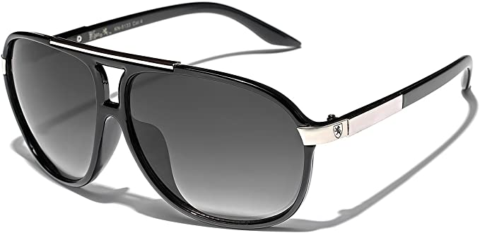 2 PAIR 80/'s Mens Retro Vintage Classic Fashion Aviator Sunglasses Black White to