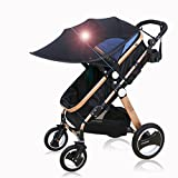 Baby Pushchair Cover, Dingji Sun Visor Sun Shade for Strollers and Car Seats (Black)