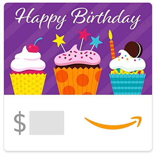 Amazon eGift Card - Birthday Cupcakes (All The Best Gifts)