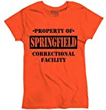 Brisco Brands Funny Shirts Womens T Shirts Property Of Springfield, MO Prison The New Black TV