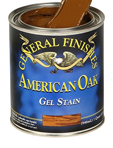 General Finishes OQ Oil Base Gel Stain, 1 Quart, American Oak