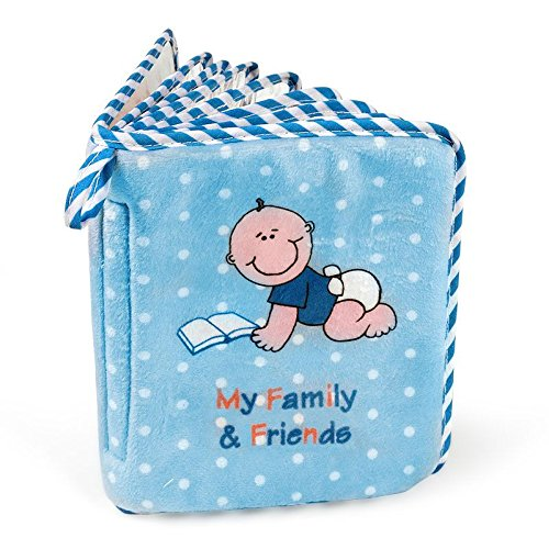 Baby Boy's First Photo Album of Family & Friends - Holds 15 Photos! by Genius Baby Toys