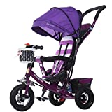 BBZZZ- Children's Trike Suitable 1-5 Years Old Baby,Baby Bike Tricycle Trolley Toddler Bicycle, Multifunction