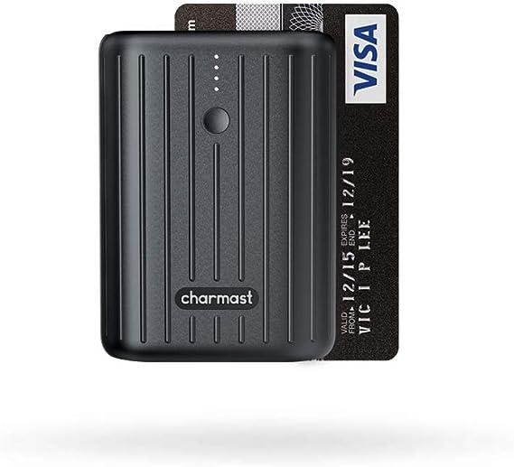 Charmast Mini Bateria Externa 10000mAh para Movil Powerbank USB C 18W PD & QC 3.0 Quick Charge Cargador Portátil Ultra Compacto Carga Rápida para iPhone Samsung Huawei Xiaomi Tablets