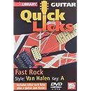 Quick Licks - Eddie Van Halen Fast Rock For Guitar DVD