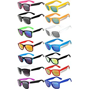 Wholesale Colored Mirrored and Smoke Lens Sunglasses 14 pairs OWL.