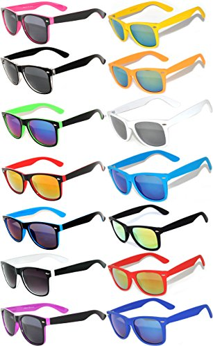 Wholesale Colored Mirrored and Smoke Lens Sunglasses 14 pairs - High Wholesale Quality Sunglasses