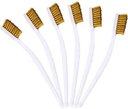Andux Land Mini Welding Wire Small Brush Cleaning Scratch Slag Rust 6pcs//set PXSZ-01 Copper