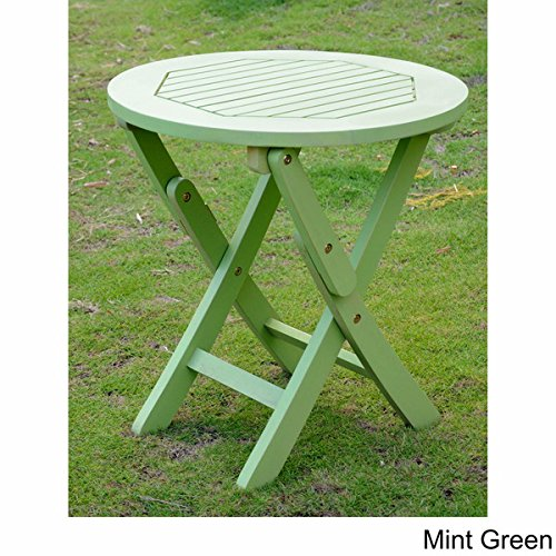 International Caravan Acacia 19-inch Round Folding Table (Mint (19