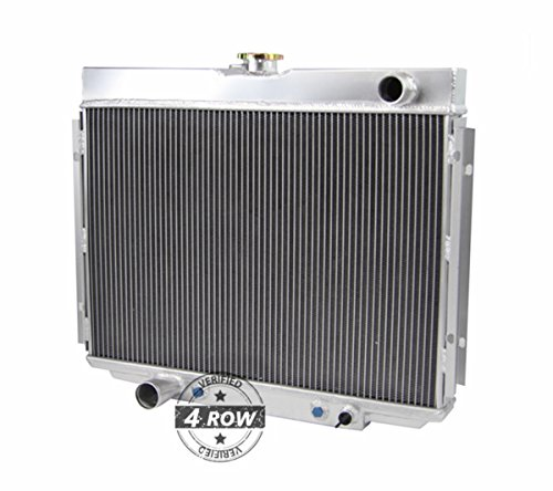 Primecooling 62MM 4 Row Core Aluminum Radiator for Ford Mustang Torino Cougar XR7 More V8 Models 1967-70