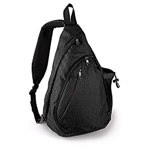OutdoorMaster Sling Bag - Small Crossbody Backpack for Men & Women (Black)