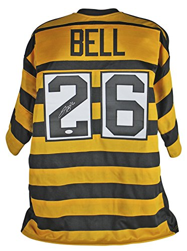 Authentic Bell (Steelers Le'Veon Bell Authentic Signed Bumble Bee Jersey Autographed JSA Witness)