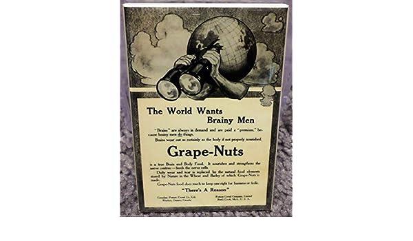 "Grape-Nuts Vintage Advertisement 2/"" x 3/"" Refrigerator Locker MAGNET Cereal"