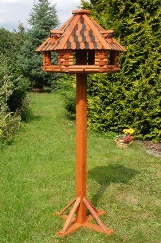 Deko-Shop-Hannusch Nichoir /à oiseaux de luxe sur pieds en bois massif enduit Taille XXL