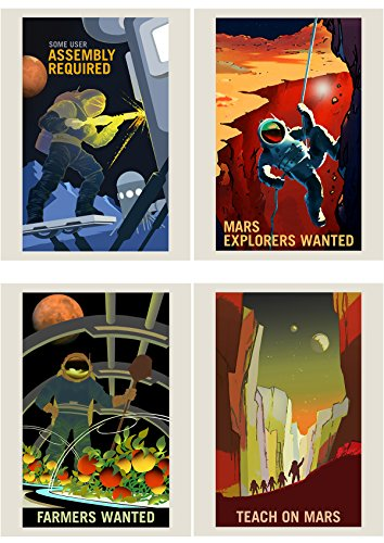 Doppelganger33 LTD NASA POSTER SPACE EXPLORATION JOB ADVERT PACK x 8 POSTERS ART PRINTS (Art Nasa Wall)
