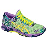 ASICS Women's Gel-Noosa Tri 11 Running Shoe, PATINA Green/Flash Yellow/Violet, 8 M US