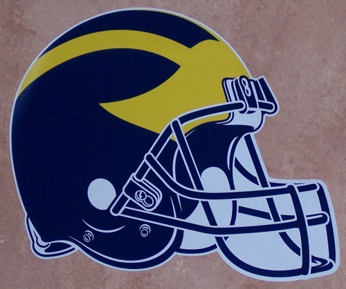 Michigan Wolverines FATHEAD Team Helmet Logo Official NCAA Vinyl Wall Graphic 17