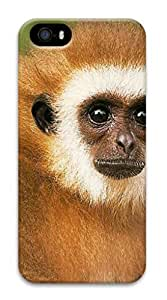 iPhone 5S 3D Surrounded All Printed Hard case non-slip case Hard iPhone Case Suit iPhone5 Colored case Easy To OperateAnimals Monkey