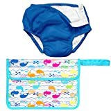 Iplay Baby Boy Pool Approved Cloth Reusable Swim Diaper Wet Bag Royal Blue 24M