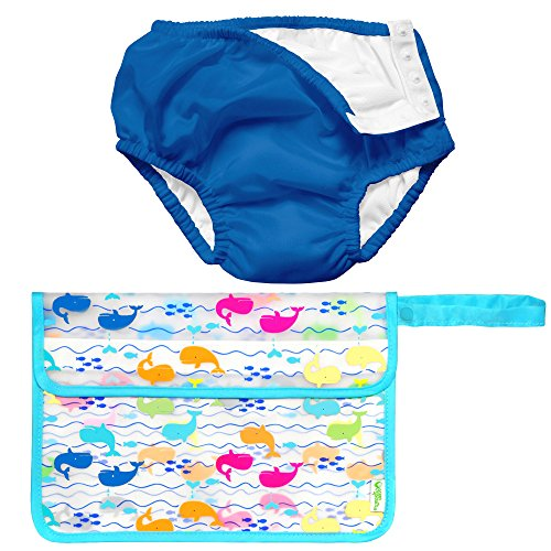 Iplay Baby Boy Pool Approved Cloth Reusable Swim Diaper Wet Bag Royal Blue 24M by i play.