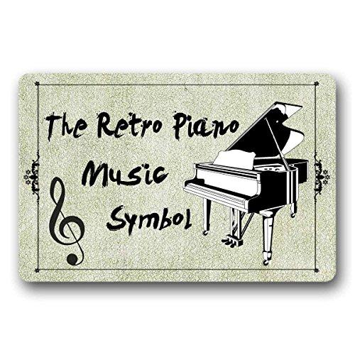JXSED The Retro Piano Music Symbol Door Mat Indoor/Outdoor Rubber Non Slip Nonwoven Entry Way Doormat for Patio Front Door 20X31 -