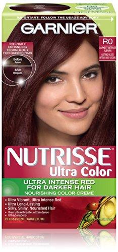 Garnier Nutrisse Couleur des cheveux couleur ultra nourrissant couleur crème, R0 Darkest Intense Auburn